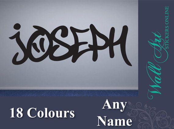 Teenager  Bedroom wall art sticker. Customised by ColwellDesign, £5.99