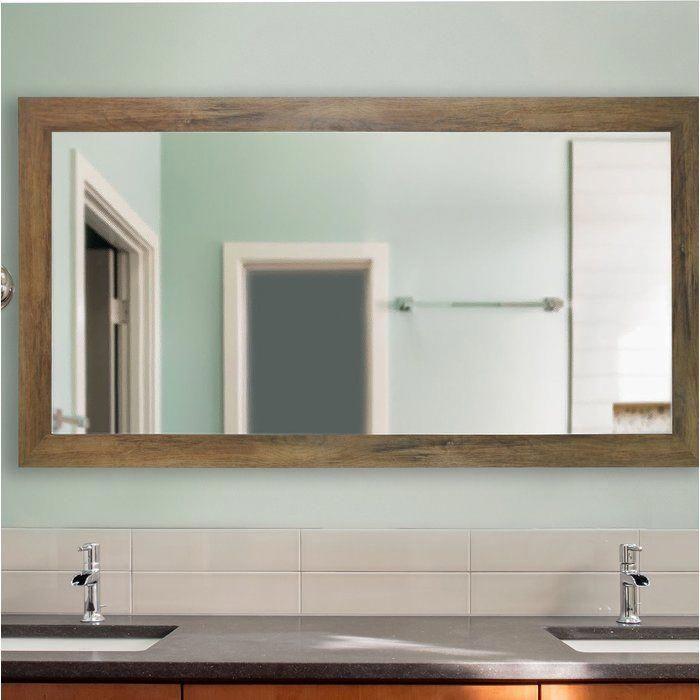 Landover Rustic Distressed Bathroom Vanity Mirror Reviews Joss Main Bathroomv Distressed Bathroom Vanity Vanity Wall Mirror Contemporary Bathroom Vanity