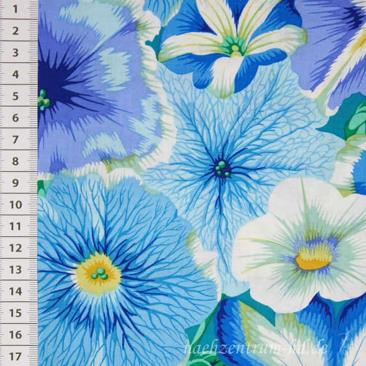 Rowan Kaffe Fassett Petunias blau 001
