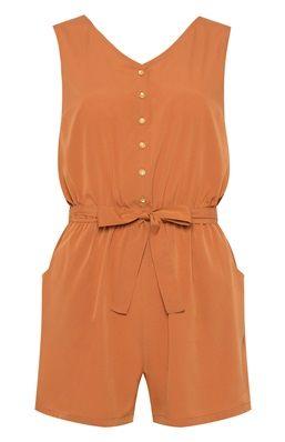 Holiday Essentials: Burnt Orange Sleeveless Playsuit from Primark #SaveItForThePlaneTicket