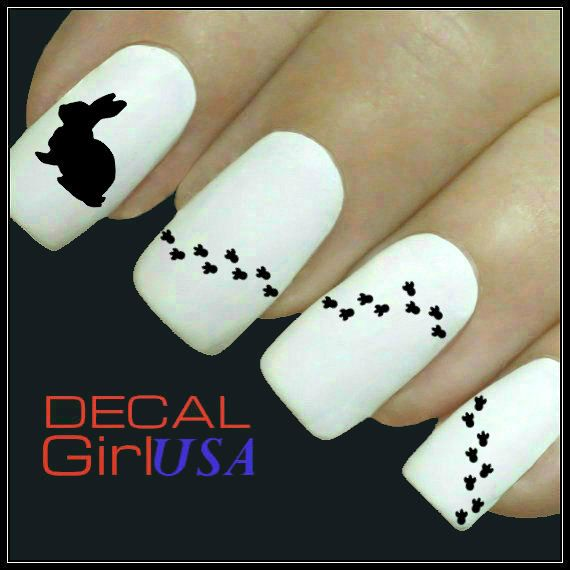 Easter Nail Art Decals 32 Easter Bunny Nail Decals by DecalGirlUSA, $3.99