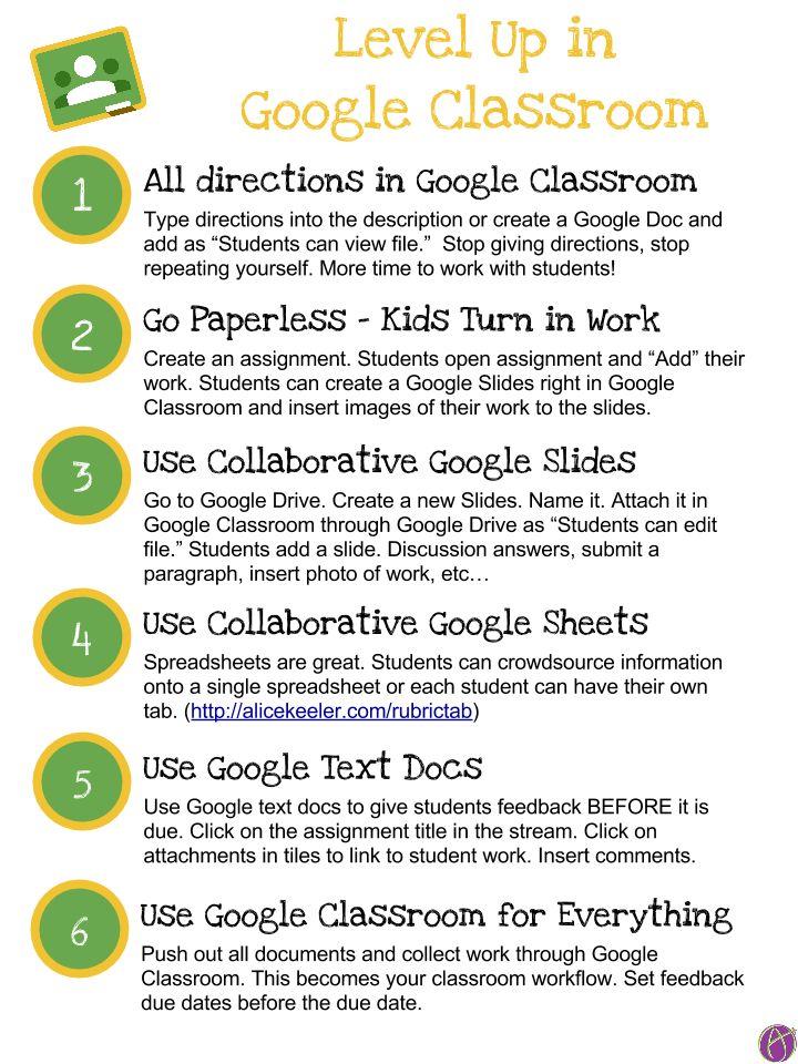 Google Classroom Tips by Alice Keeler #gafe #googleedu #googleclassroom