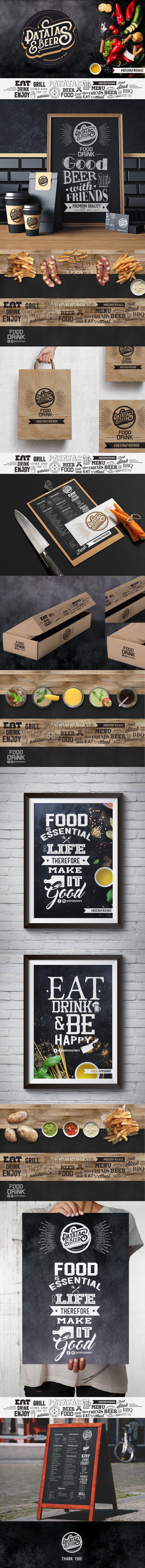 Echa un vistazo a mi proyecto @Behance: \u201cPATATAS & BEERS Restaurante Bar\u201d https://www.behance.net/gallery/48959565/PATATAS-BEERSRestaurante-Bar