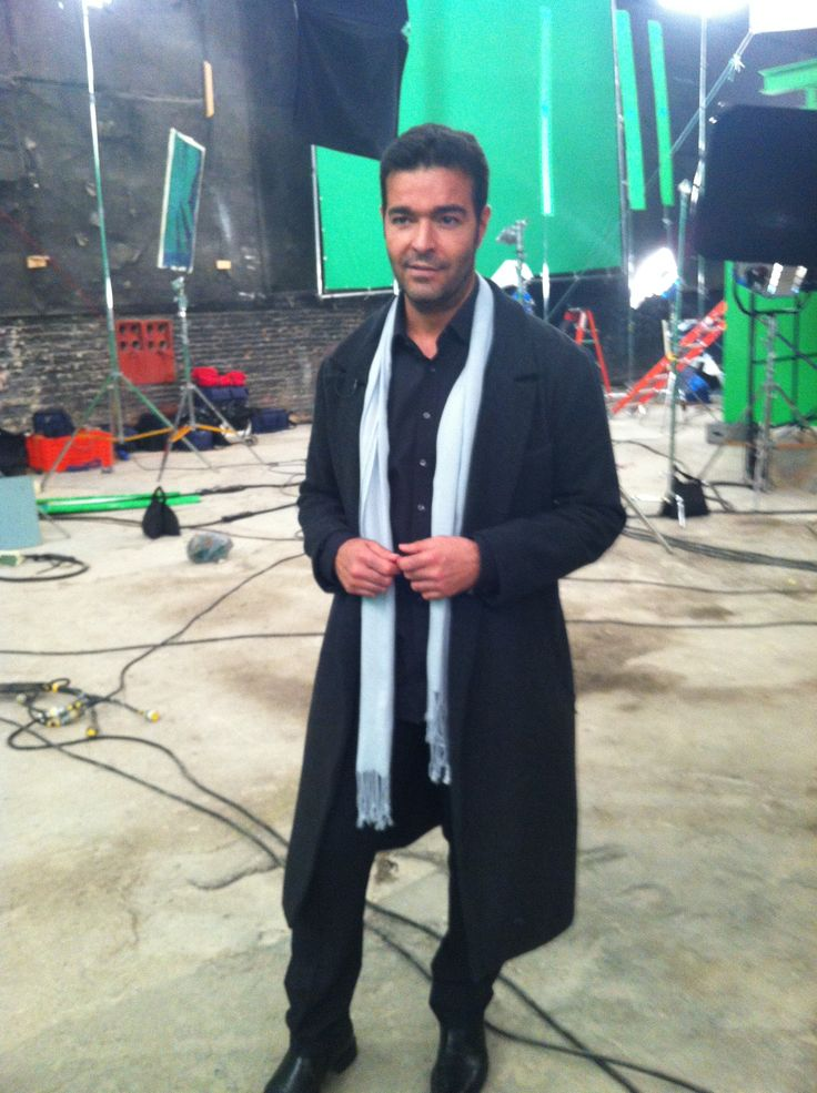 Pablo Montero tras bambalinas en la grabación de #TiemposDeAmor #Televisa