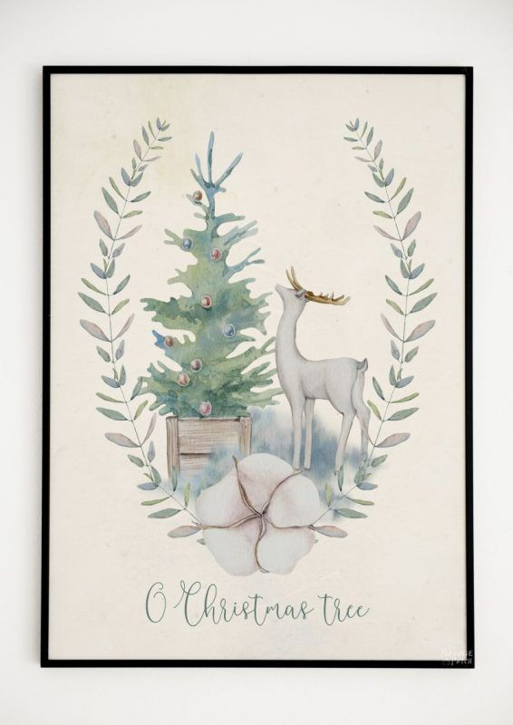 Beautiful Free Watercolor Christmas Printables Free Christmas
