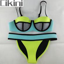 Neopreen swimwears vrouwen bikinis vrouw nieuwe zomer 2017 sexy badpak bad pak push up bikini set bathsuit ta03 cikini(China (Mainland))