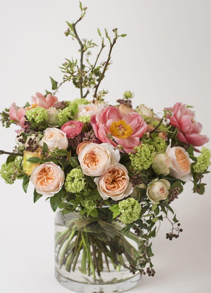 Livraison bouquet roses et pivoines Paris - Vintage Pattern   Flower.fr