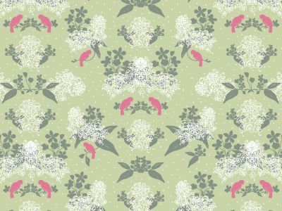 Maria Sofia pattern in green and pink inspired by the Swedish spring.   www.formstigen2a.se/pattern