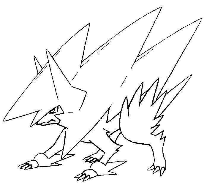 mega pokemon printable coloring