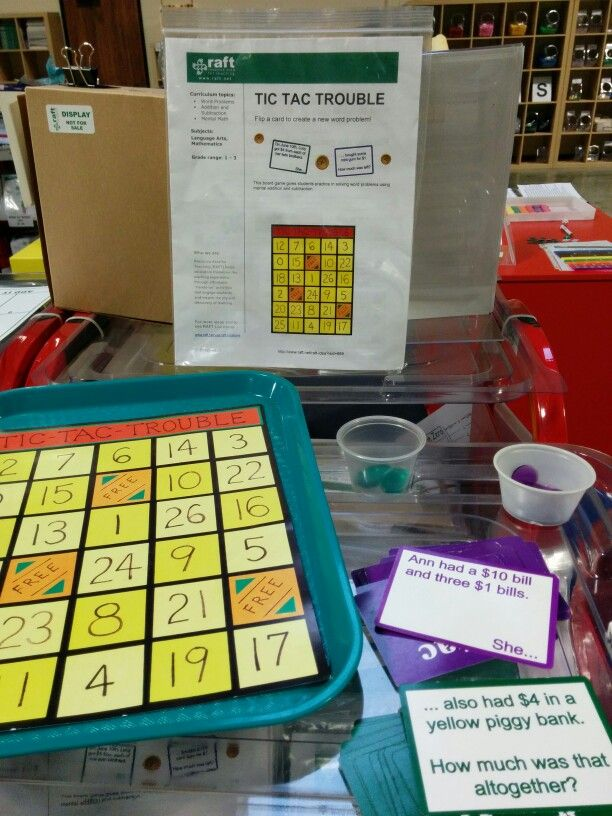 Hands-on math, science, and art activities/games starting at $1.