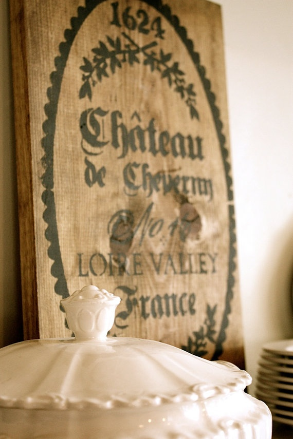 Wood French Vintage Style Sign by mysweetsavannah on Etsy, $54.00