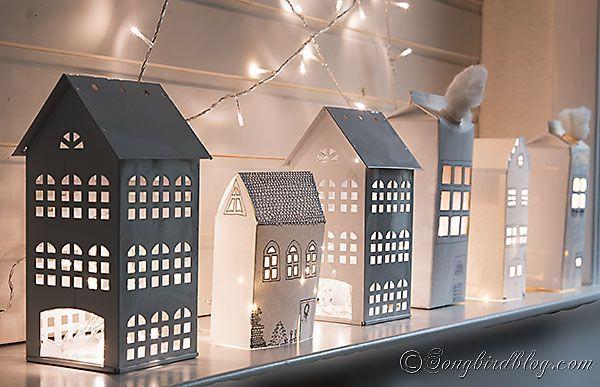 Daddy Cool!: Φτιάξτε πανεύκολο Χριστουγεννιάτικο Χωριο από κουτιά δημητριακών και τρέλανε τα παιδια! DIY