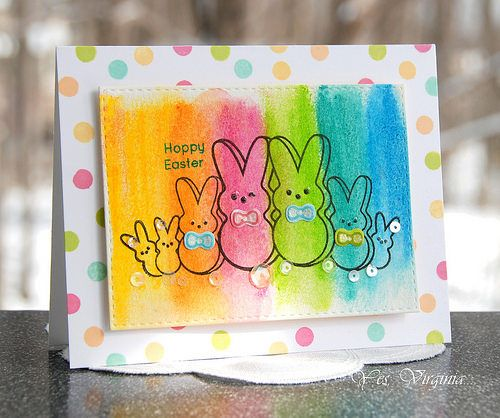 more distress crayon peeps | Virginia Lu