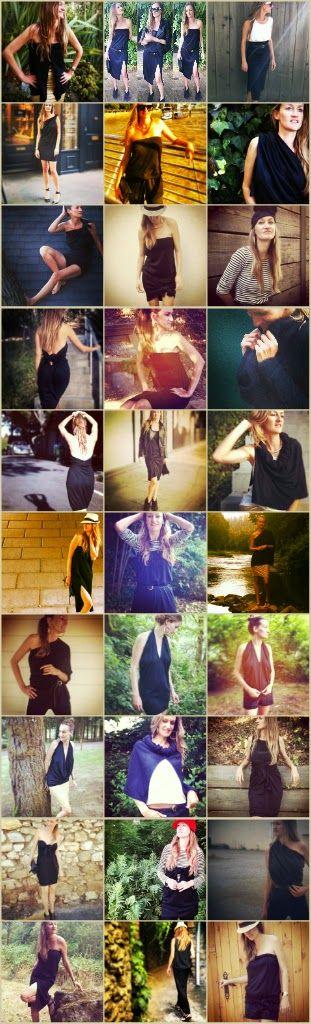 Zero Waste Home: 30 ways to wear a long black, matte jersey skirt Im inspired by Bea's minimalist lifestyle.