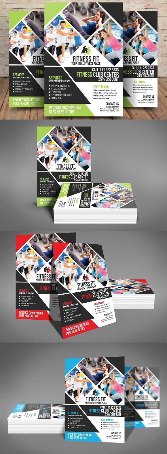 Health & Fitness Flyer . Flyer Templates