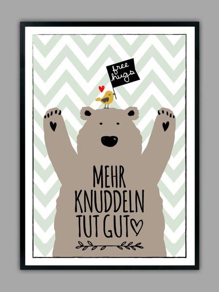 """""""MEHR KNUDDELN"""" Kunstdruck, Geschenk von Smart-Art Kunstdrucke auf DaWanda.com"""