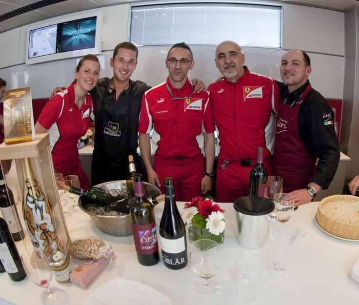 I sapori del Friuli Venezia Giulia presenti nel paddock Ferrari. Il vino della nostra azienda agricola Specogna ed il prosciutto crudo San Daniele di Levi, sono stati serviti durante il Gran Premio di Formula 1 in Austria.