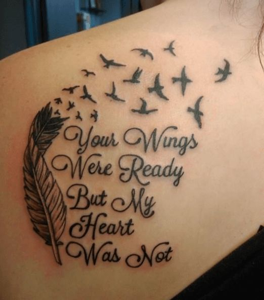 A mourning mother's touching tattoo. #inked #inkedmag #tattoo #miscarraige #wings #art #mother #mourning #touching #loss