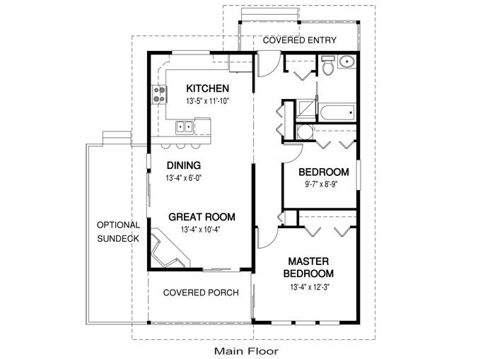 Guest House Plans Under 1000 House Plans Paxton