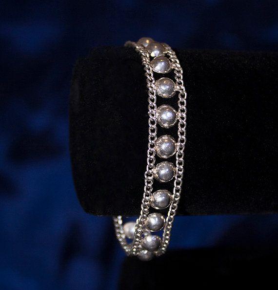 Sterling Silver Chain Bracelet Sterling Silver Bracelet, Silver Circle Bracelet