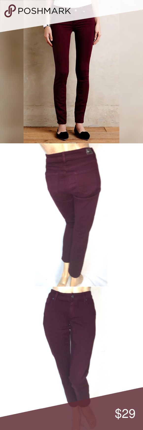 Paige premium denim peg skinny in red wine 27 Paige premium denim peg skinny in red wine 27 Paige Jeans Jeans Straight Leg