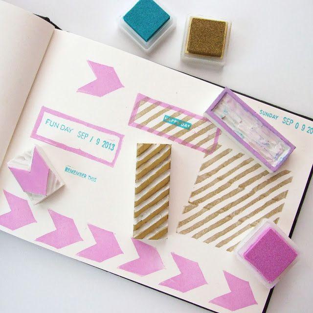 Diy - Make Your Own Custom Eraser Stamps.
