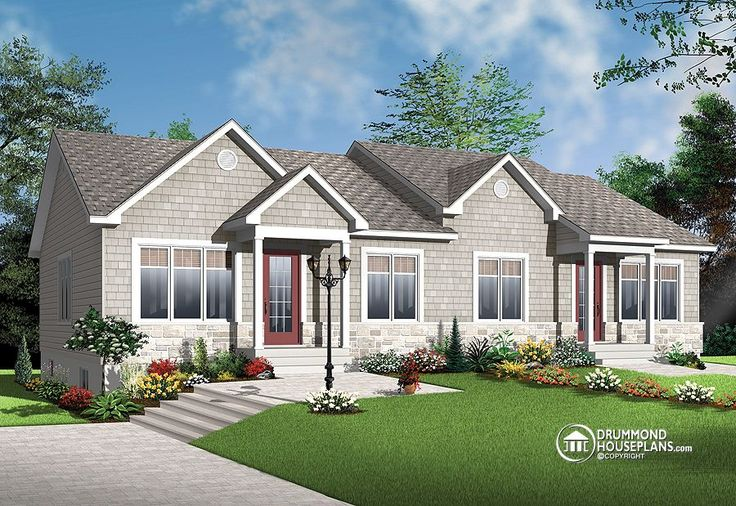 31 best images about two family house plans on pinterest for 2 family house plans
