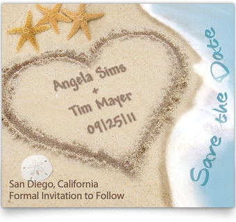 Save the Date Cards - Names Written in the SandSands, Ideas, Stuff, Magnets, Dates, Names, Beach Weddings, Saving, Beach Themes