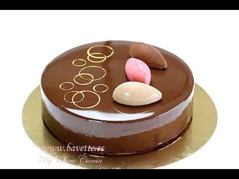Tarta mascarpone, con frambuesa, chocolate , y glaseado espejo. - YouTube