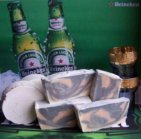натуральное мыло на пиве Хайнекен