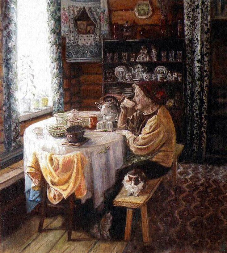 "Бердник Светлана ""Чаепитие"" / Svetlana Berdnik ""Tea Time"""