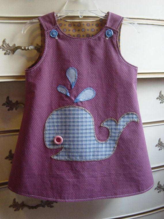 little whale jumper. so cute - hand and machine stitched.