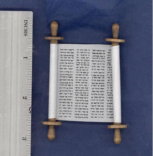 Jewish Miniature Dollhouse Open Torah