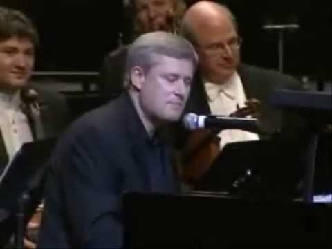 Stephen Harper - Suspicious mind.  After spending $1.6 billion on G8 and G20 Stephen Harper, PM Canada, is singing away.