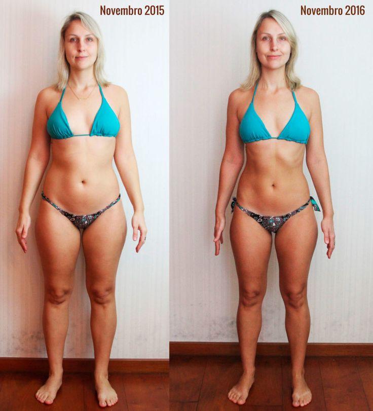 Antes e depois Reeducação Alimentar combinada com exercícios físicos regulares