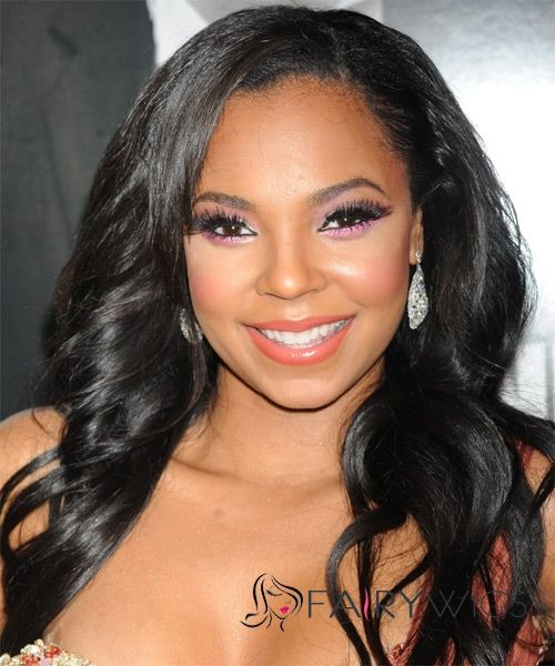 Beautiful Long Wavy Black African American Lace Wigs For