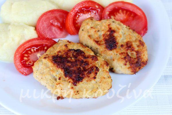 μικρή κουζίνα: Μπιφτέκια από κοτόπουλο