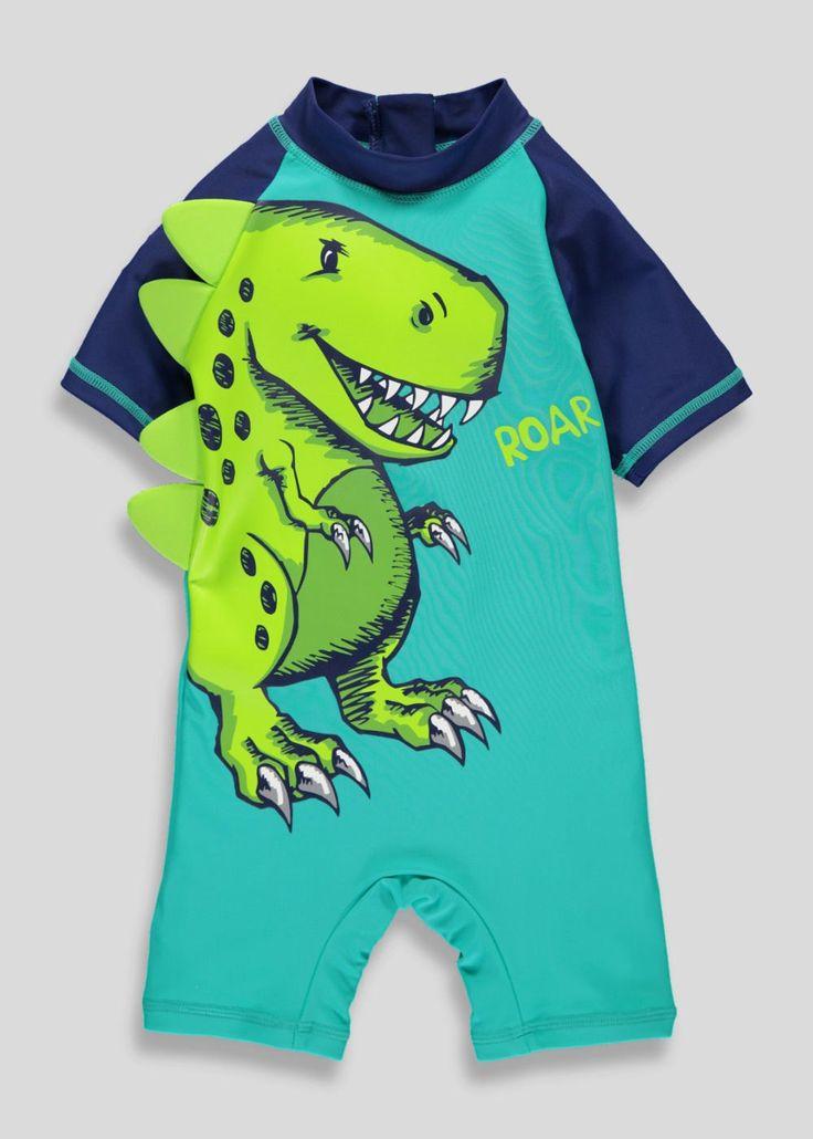 Boys 3D Dinosaur Surf Suit (3mths-5yrs)