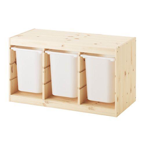TROFAST Comb arrumação c/caixas IKEA Uma gama de arrumação divertida e robusta para guardar e organizar os brinquedos, sentar, brincar e descontrair.