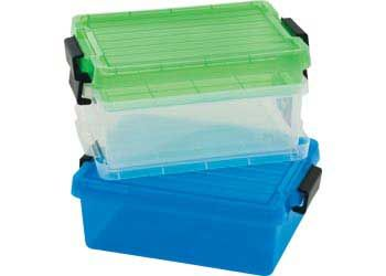 Container with Lid 10 Litre Neon Blue