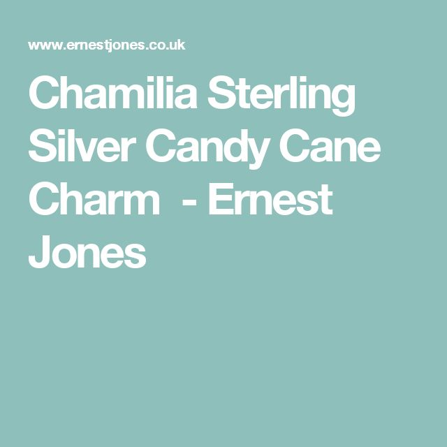 Chamilia Sterling Silver Candy Cane Charm - Ernest Jones
