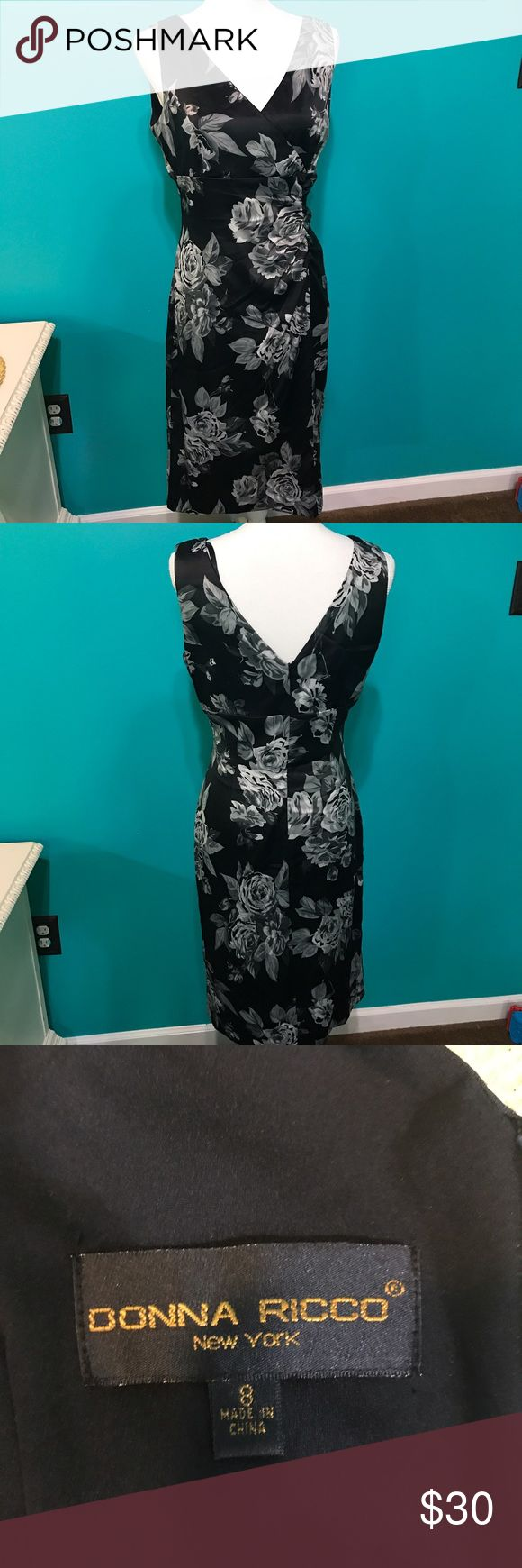 Donna Ricco floral dress Beautiful satin feel floral tea length dress. I can't quite capture it beauty in pictures! This is one you have to see in person! Donna Ricco Dresses Midi