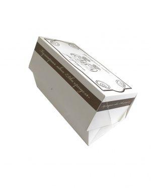 Товары по акции, картонная коробка для пирожного, для выпечки из мелованного картона 390 г/м2. Р-р 200*100*75. Упаковка под пирожное и под выпечку до 1 кг.   Фабрика Упаковки