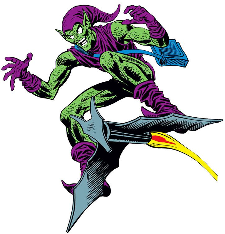 The Green Goblin (Norman Osborn) vintage art on white background