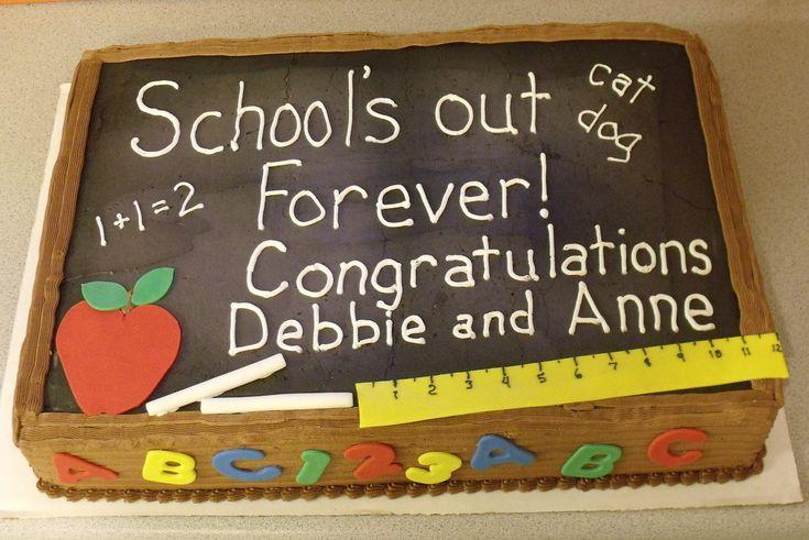 retirement cake for teacher