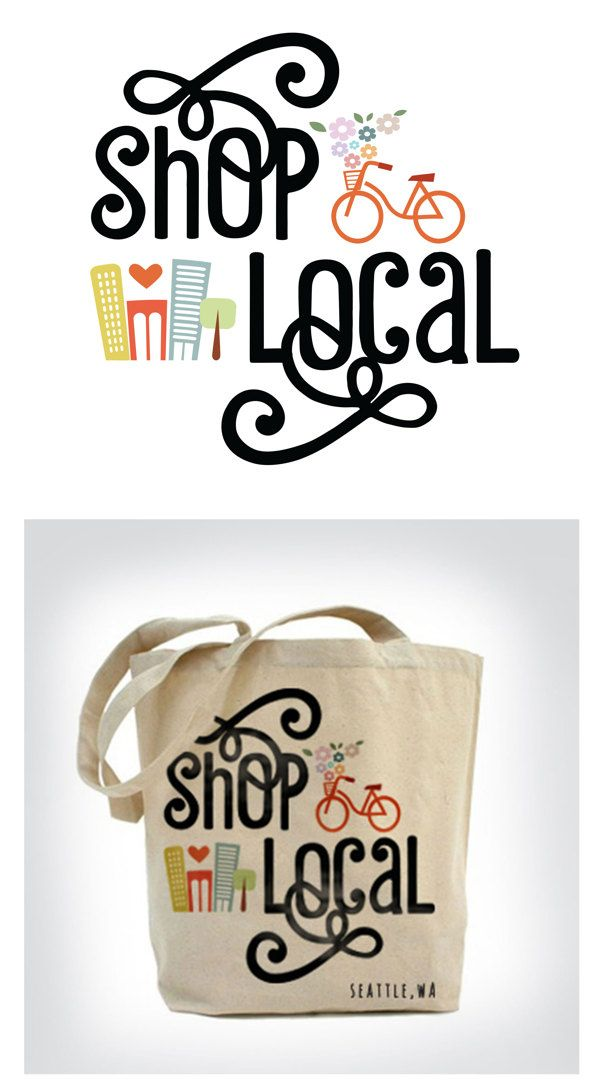 Shop Local - Canvas Bag by Kayla Hernandez, via Behance