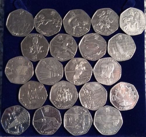 21 out of 29 set of #olympic 50p #pieces including #taekwondo and tennis,  View more on the LINK: http://www.zeppy.io/product/gb/2/142246561883/