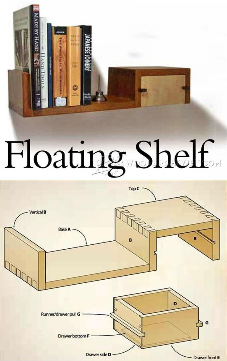 woodworking project plans for beginners. floating shelf plans - woodworking and projects | woodarchivist.com project for beginners t