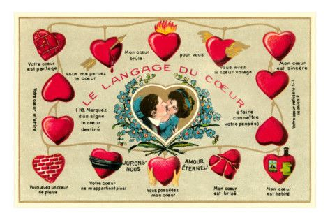 French Language of the Heart Posters at AllPosters.com