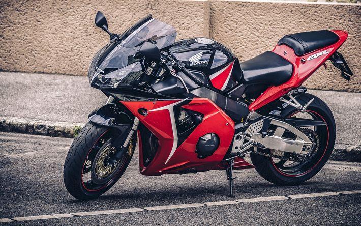 Hämta bilder Honda CBR600RR, sportbikes, superbiks, japanska motorcyklar, Honda